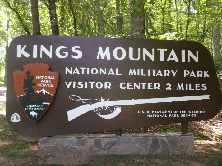 The entrance to Kings Mountain National Military Park. - A place to learn about our roots, our triumphs, our mistakes.....