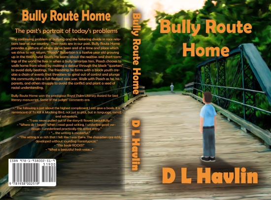 The cover for the Geezer's (DL Havlin) new book BULLY ROUTE HOME---
