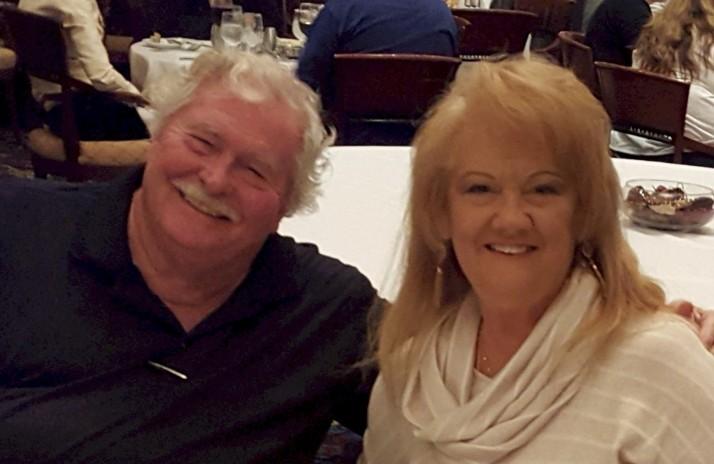 The Geezer and Mrs. G ... it's easy to see why he's always happy.