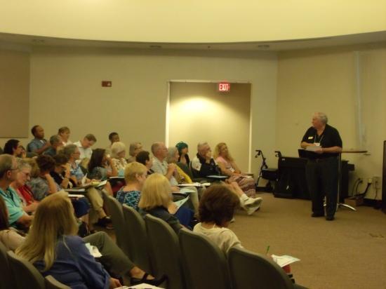 DL (the Geezer) teaching a seminar.