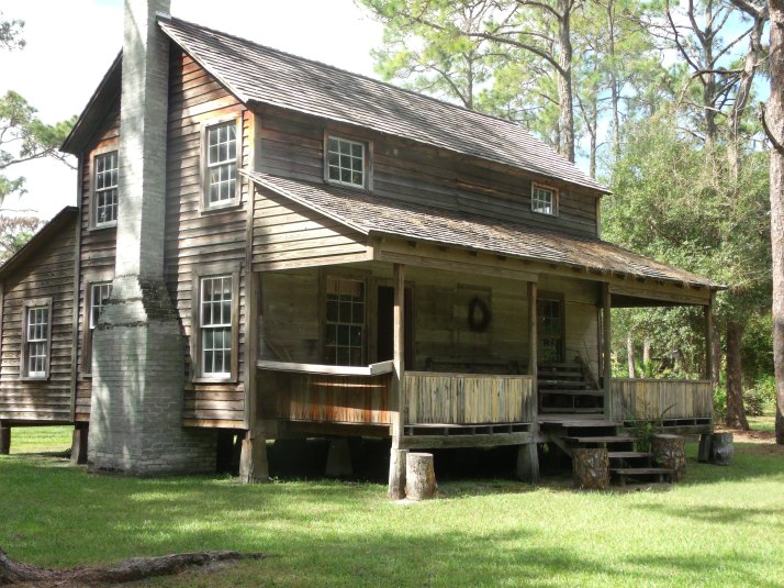 One of the pioneer houses at the Crowley Museum